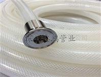 食品级耐压软管的厂家 fda透明编织硅胶管