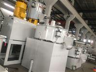 PVC塑料冷熱500/1000高低速混合機組變頻