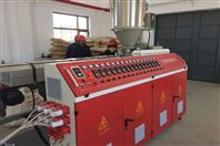 青岛合塑大口径PE夹克管保温管生产线设备